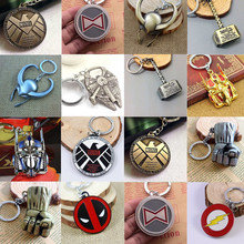 Hot Marvel Super Hero KeyChain Loki Hulk Flash Black widow Die shi masks Thor  Star Wars Marvel characters Key Chain Key Ring