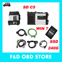 2017 Wifi MB Star C5 SD Connect Compact 5 for MB Cars&Trucks with Software 240GB SSD  for mb star c5 DHL fast free shipping