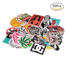 50 pcs Funny Car Stickers on Suitcase Home Decor Phone Laptop Motorcycle Car Covers DIY Vinyl Decal Stickers Home Decoration