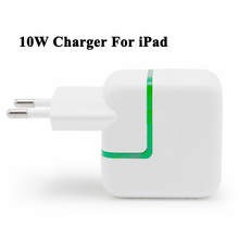 10W USB Power Adapter Charger for iPad Mini Air Green Led Indicate Euro Travel Charger for iPhone 6 6s Mobile Phones and Tablet