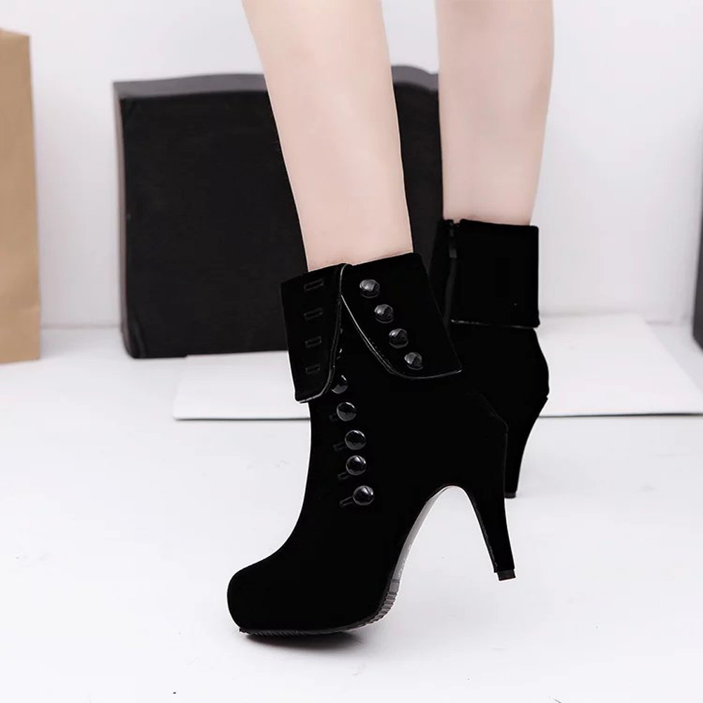 New Arrival High Quality Women Ankle Boots High Heels Fashion Red Shoes  Platform Buckle Winter Boots Free shipping<br><br>Aliexpress
