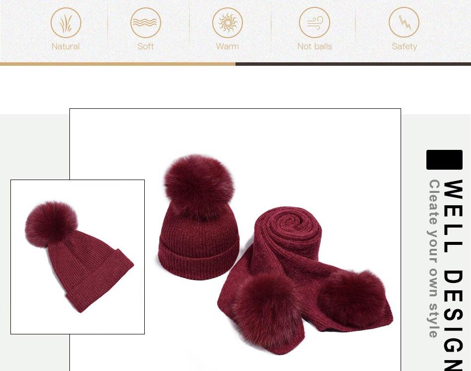 قبعة ووشاح للفتيات 2