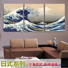 japan painting landscape canvas painting 3 panels art picture great sea Wave Kanagawa Katsushika Hokusai japanese oil painting