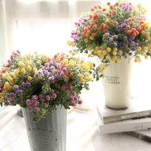 1 Big Branch Artificial Fake Flowers Milan Waxberry Flower Wedding Decoration DIY Home Party Decorative Stamen Wreath Pompoms(China)