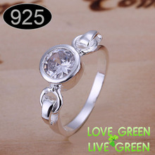 2013 Rhinestones import zircon Heart brand name wholesales women plated rings korean jewelry sex women size 88