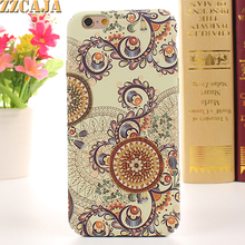 ZZCAJA For iPhone 5 5S Case Luxury Luminous Nice Sun Flowers Amazing Crop Circles Tribe Hard PC for Apple iPhone SE Phone Covers(China)