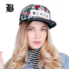 [FLB] Flower Label Snapback Cap Hip Hop Cap Floral Casquette Snap Back Fashion Baseball Cap Gorras Men Fitted Snapback Hat(China)