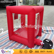 mini red Inflatable cash grab cube box 1.2 meters high inflatable game for advertising promotion 1x1xH1.2M BG-A0675-6 toy