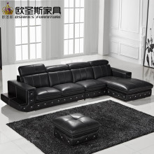 New model l shaped modern italy genuine real leather sectional latest corner furniture living room sex sofa set F36C(China)