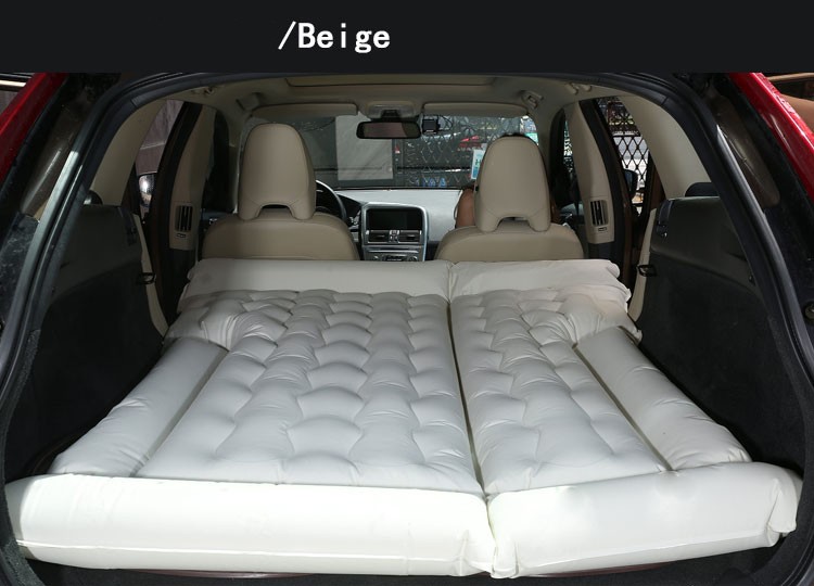 SUV Inflatable Mattress With Air Pump pad Car Back Seat Sleeping Rest Mattress Travel Camping Moisture-proof Car Bed full set