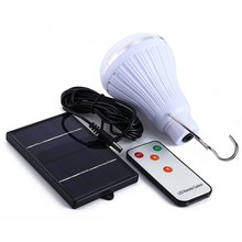 Super Bright Dimmable 6V 20 LED remote control solar light Outdoor Garden Decoration 1W Solar Panel Solar Lamp(China)