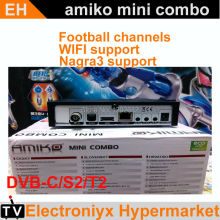2017 StarHub black box Singapore cable box TV receiver Amiko tv box mini hd combo set top box P streambox c1 qbox c801+free wifi