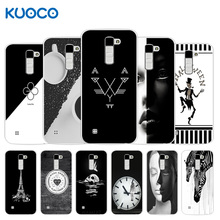 For LG K10 Lte K 10 K420N M2 K410 K430DS F670 Dual Phone Case B&W Design Back Cover for LG K10 Silicone Clear Capa Bag(China)