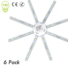 6pcs LED Ceiling Lamp 5730SMD 12W 16W 20W 24W LED Lamp Octopus Light Source 220V LED Light Board Energy Saving Indoor Lighting