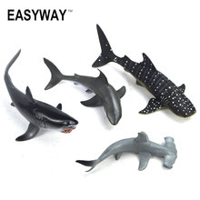 Mr.Froger Aquatic Creatures Model Toy Shark Wild Animals Toys Zoo Modeling Set Plastic Solid Sea Life Fish Classic Toys Turtle