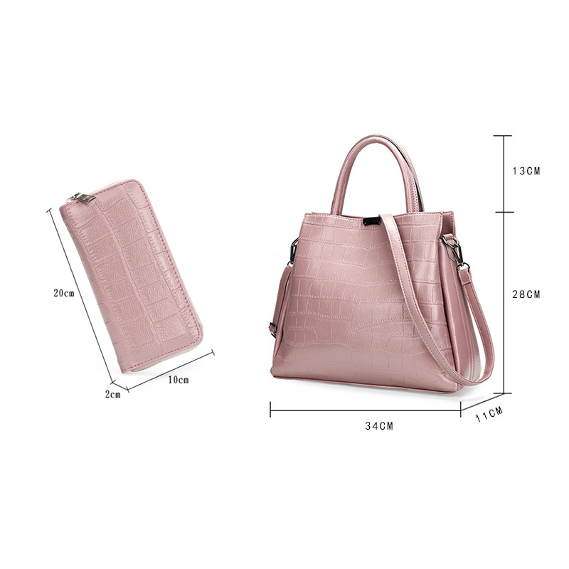 671498745f70 ... Crocodile Paern PU Leather 2 Pieces Sets Women Tote Female Messenger  Bags sac a main L-114. Brand  Homeda. Name  Handbags. Material  PU. Size  7
