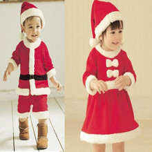 Goldbuddy Fashion Baby Christmas Romper with Hat Boy Christmas Costumes Santa Girl Dress Costume Merry Christmas(China)