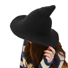 2018 de lana de punto sombrero de cubo bruja sombrero de pescador de las  mujeres de los hombres de sombreros de ala sol boinas b. 4021ed72261