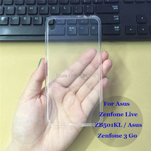 For Asus Zenfone 3 Go Ultra Thin Soft TPU Silicon Gel Transparent Case Back Housing Cover For Asus Zenfone Live ZB501KL 5.0""