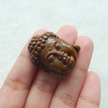 Natural Stone Carved Buddha Head Ocean Jasper Fashion Necklace Pendant 31x24x11mm 13.7g Fashion Jewelry accessory