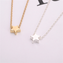Delicate Cute Tiny Star Necklace Jewelry Gold/Silver Star Jewelry Elegant Temperament Women Necklace Jewelry Star Necklace