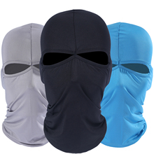 New 2 Hole Lycra Balaclava Windproof Hats Cap Tactical Bicycle Snowboard Helmet Liner Protection Full Face Mask For Men Women