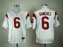 Nike Jersey USC Trojans Mark Sanchez 6 White College Jersey Ice Hockey Jerseys M,L,XL,XXL,3XL(China)