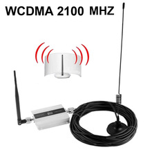 Family 3G WCDMA 2100MHZ Mobile Phone Booster 2100 MHz Signal Repeater Cell Phone Amplifier With Cable + Antenna Drop Shipping