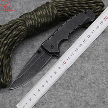 Dcbear New! DA78 Folding Knife 440C Steel High Performance Knives Rescue Tool Stone Wash Blade Hunting Knife