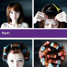 Inner Dia 3cm Plastic Hair Curlers Roller Makeup DIY Hair Styling Roller Hair Curlers Clips For Women Girls(China)
