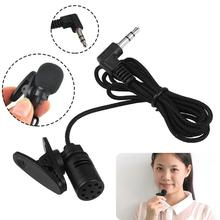 Mini 3.5 Mic Clip Microphone Lapel Wired Lavalier Microfon Double Track MIC For Smartphones PC Mikrafone Condenser microphone