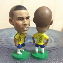 Soccerwe 2016 2.55 Inches Height Football Dolls Brazil Player 9 Ronaldo Doll for Fans Collections Yellow(China)