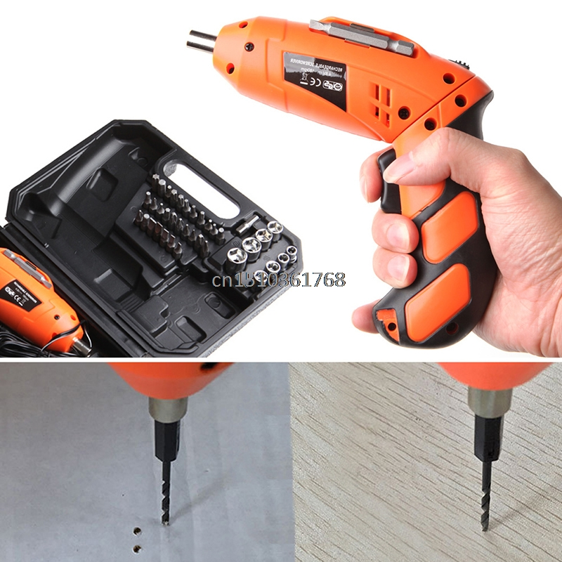 46Pcs 4.8V Cordless Reversible Electric Screwdriver Drills Kit Rechargeable EU New #Y05# #C05#<br>