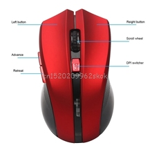 Professional 2400DPI Optical Wireless Mause Ergonomic Mice Portable Mini USB Gaming Mouse For Computer PC Laptop #H029#