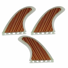 Performance Core Wood Veneer Thruster (3 fin set) Future Base G5 Size SUP Board Fins(China)