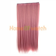 60cm gradient style Ladies  Long Straight Pink Hair Extension (NWG0HE60731-PI2)