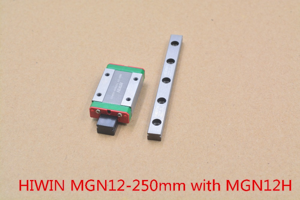 HIWIN MR12 12mm linear guide rail stainless steel rail MGN12 length 250mm with MGN12H linear block 1pcs<br>