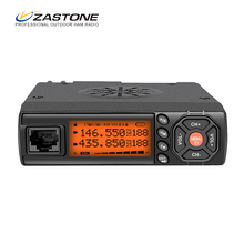 Zastone Z218 Mini Car Walkie Talkie 10KM 25W Dual Band VHF/UHF 136-174mhz 400-470mhz 128CH Mini Mobile Radio Station Transceiver(China)