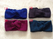 DHL/UPS Woolen Knit Turban Headband for Women Ear Warmer Twist Hairband Turban Head Wrap Accessories 100 pcs/lot Free shipping(China)
