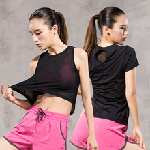 2017 Promotion New Women Quick Dry Sleeveless Shirts Fitness Training Athletic Vest Running Workout Sports Yoga Shirt Tank Tops(China)