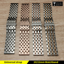 Universal Watch Bands For Casio Stainless Steel Watch Strap Solid Brand Watchband 18/19/20/21/22/23/24mm for Breitling Diesel
