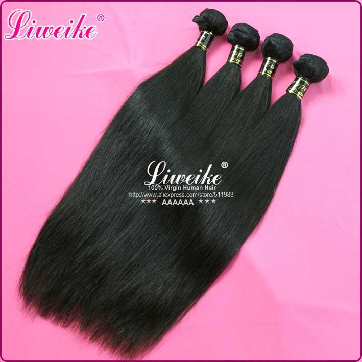 European hair 4pcs/lot european virgin hair extensions 100% unprocessed human straight hair 12-30 color 1b, DHL free shipping<br><br>Aliexpress