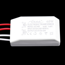 AC to AC Adapters 1pc 40W 12V Halogen LED Lamp Electronic Transformer Power Supply Driver Adapter Hot Worldwide Drop Shipping(China)