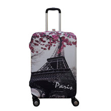 Paris Pattern Elastic Travel Luggage Suitcase Protective Cover for S/M/L, Apply to 18-30inch Cases, Travel Accessories(China)