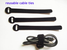 48pcs 14*160mm black Nylon Reusable Cable Ties with Eyelet Holes back to back cable tie strap hook cable organizer figment(China)