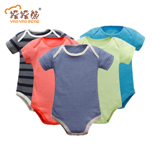 Baby Clothing Short Sleeve Cotton Romper Children O-neck Body for 0-24M Babies Clothing Baby Girl Clothes Children's Bodie(China)