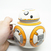STAR WARS Ceramic Mug BB - 8 robot cup with cover Creative ceramic coffee cup(China)