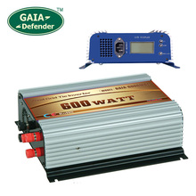 600W Wind Grid Tie Inverter with LCD/Dump Load Controller for 22V-60V wind turbine AC 100V 110V 120V 3 phase generator