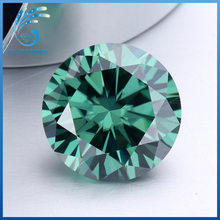 6.0mm 0.8ct round brilliant cut mint green moissanites loose gem stone for rings making jewelry(China)