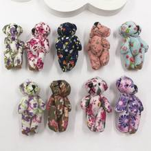 4.5cm Plush Mini Joint Bare Teddy Bear Miniature bear Bouquet/Phone/bag 4pc/lot(China)